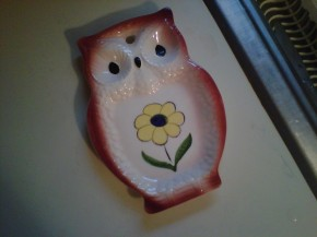 owl ladel holder