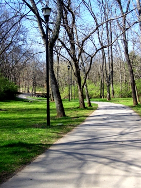 The Greenway is a paved, nine-mile pedestrian path, which is perfect for those of us in training mode.