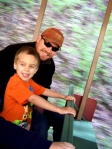 The Dollywood Express is a old steam engine that takes riders up the mountain and back down around the park. Jackson got the most thrill from it.