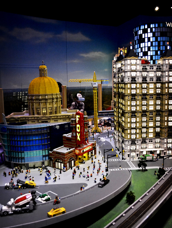 The Fox Theater in Legos