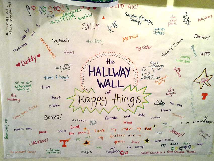 Hallway Wall of Happy Things