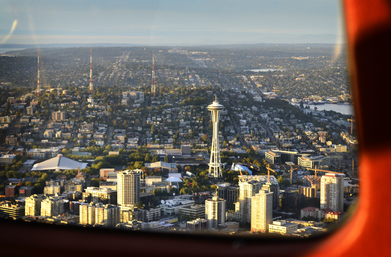 Space Needle from above