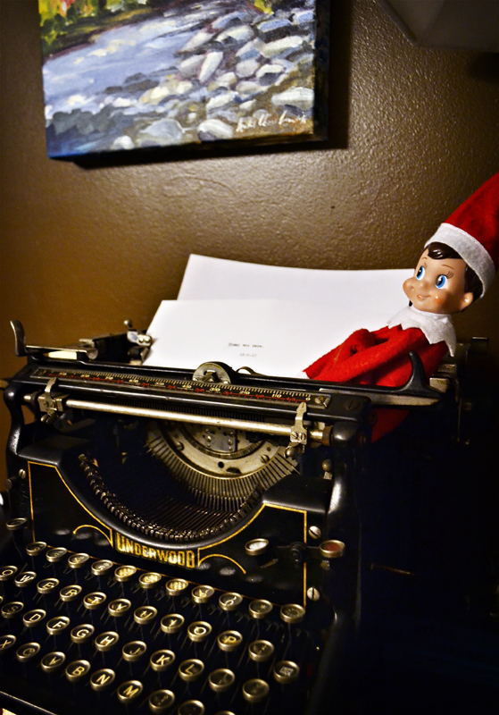 Timmy at the typewriter