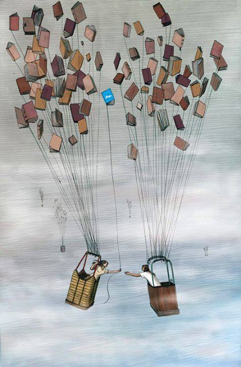 balloon of books