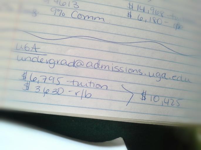 UGA tuition