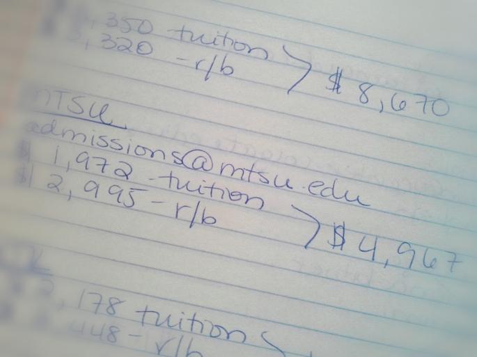 MTSU tuition
