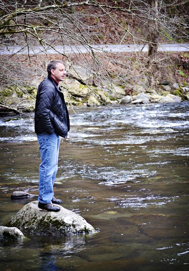 City boy at the river