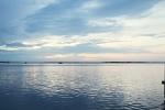 Sunset at port