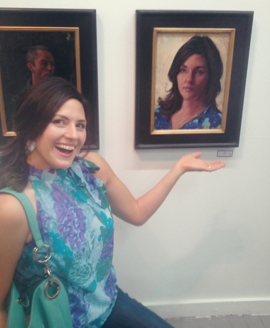 With my portrait