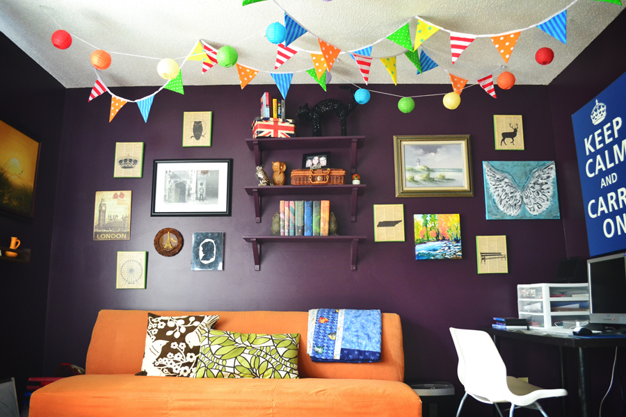 Must paint jennie creates for Orange and purple walls