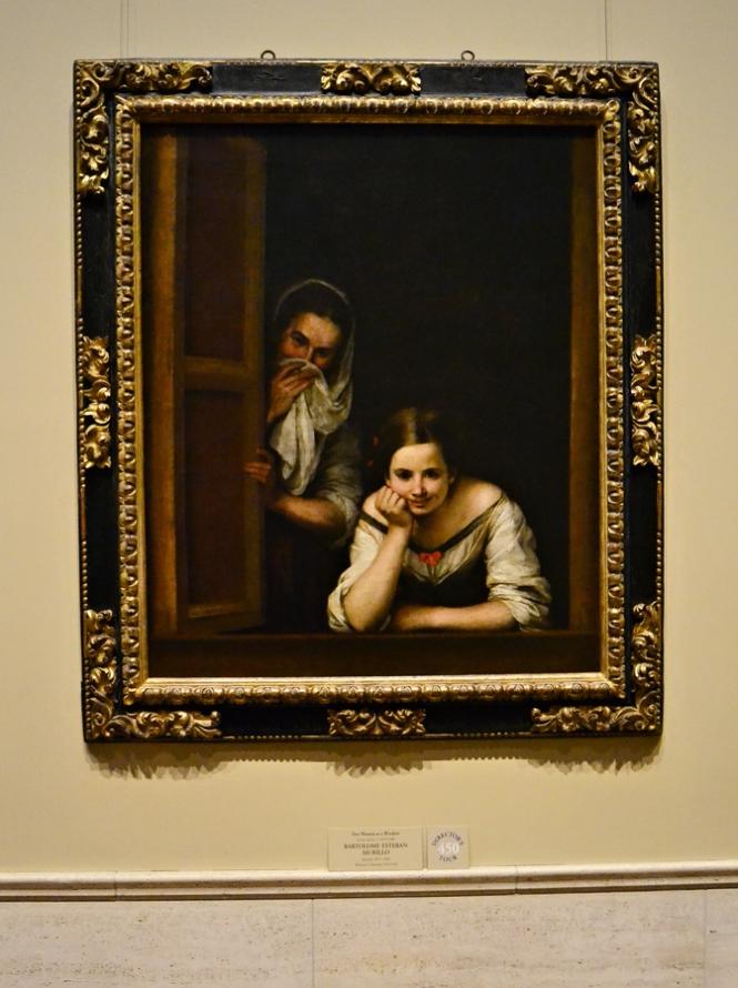 Two women in a window