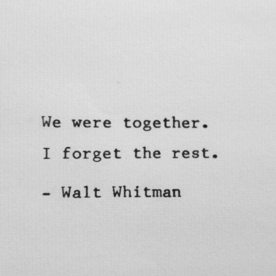 We were together
