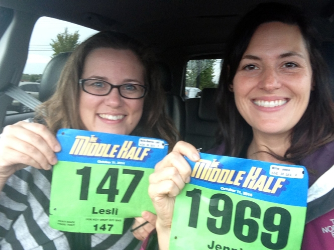 With Lesli after packet pick up