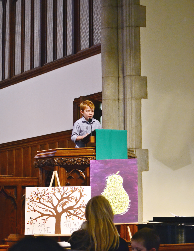 Jeremy gives a sermon