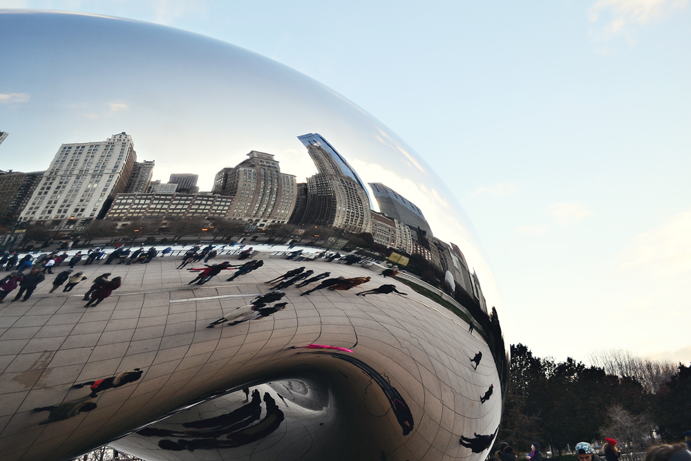 Side of Cloudgate